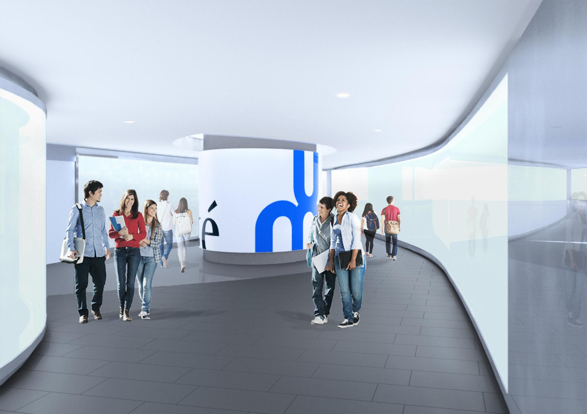 Tunnel d'accès au Pavillon Roger-Gaudry